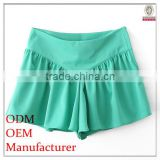 latest designed solid color flared women beachwear pants