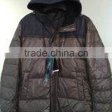 Men's down jacket stock clothes wholesale wholesale outlet clothing stock surplus stock lots