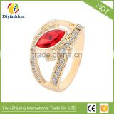 New Fashion Jewelry Beautiful Gold Crystal Rings For Women Love Engagement Ring Wedding party Gift