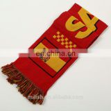 SC-0039 Acrylic soccer scarf custom print knitted jacquard Spain Espana football fan scarf
