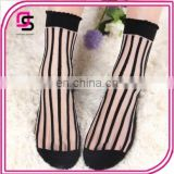 In stock lady summer glass low cut out boat socks,lace crystal short stockings