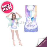 Unicorn hero t-shirt wholesale mix printed running yoga sexy jogging gym high quality hot girls slim sport tank top
