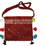 mirror work hand embroidered ethnic indian bags