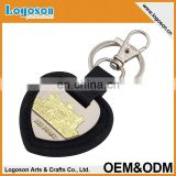 Promotional gifts handmade custom car leather keychain with car brands logo names