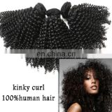 New 2014 best quality perfect black lady kinky curly grade virgin weaving 100% remy human hair