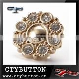 N-CTY-093 fashion rhinestone letter buttons