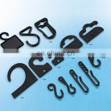 High quality fashion garment accessories different size plastic hook for hanger