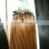 "Grade AAA+ brazilian style 22"" 100% remy human hair loop/micro rings hair extension hot selling"