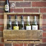 Custom logo and color vintage wooden wine shelves,glass wine rack wood                                                                         Quality Choice