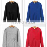 customized long sleeve 100%cotton sweater with fleeece lining s-xxxl o neck hoodie for men&women