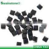 0531L 3*3 4*4 6*6 China factory wholesale Loose bulk black square rhinestones for wedding dresses