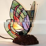 Stained Glass Tiffany Style Butterfly Night Light Table Desk Lamp