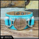 Fashion Monogrammed Leather Cuff Bracelets                                                                         Quality Choice