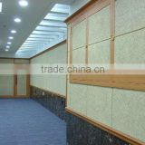 Long Lifespan Natural Wood Wool Acoustic Panel;wood Fiber Sound Absorbing Panel For Ceiling Or Wall
