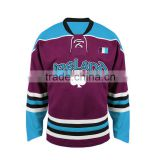 Wholesale 100% polyester ice hockey jersey blank