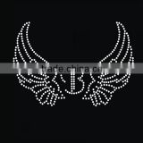 Angel Wing Hot Fix Rhinestone Transfer Motif Wholesale For Garment