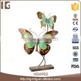 High quality green colors iron metal butterfly wall hanger