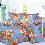 china 100% polyester fabric 3d printed 125gsm 3 pieces bedsheet /bedding sets/ microfiber duvet