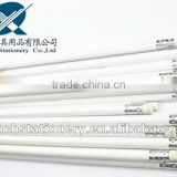 Round white HB standard pencil with eraser and logo available in bulk