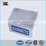 Acrylic Hairnet for Safety Disposable Box . White Acrylic Custom Made Hairnet cover dispenser For Safety