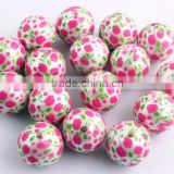 INquiry about Wow!! 2016 Newest Fashion Chunky Acrylic Matte Pearl Print Flower Bubblegum Ball Round Beads For Kids Jewelry Making!