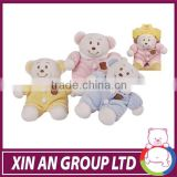colorful styles 12 zodiac signs small plush bear toy&baby plush toy