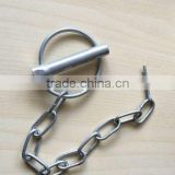 High Quality zinc plated Linch Pin With Link Chain