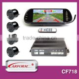 Universal backup parking sensor mirror monitor with bluetooth, game and usb functions