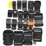 Black Plastic regulating buckle High Cost Performance Plastic Buckle for Bags&Belt in Different Sizes