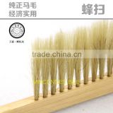 Top quality beekeeping wooden handle horsehair bee brush, Double Row bee brush horsehair beehive brush cleaning brush