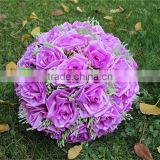 wholesale Hydrangea artificial rose ball artificial silk hanging flower ball for wedding decor
