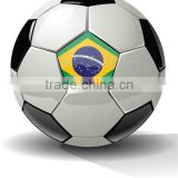Brazilian Country Flag Soccer Ball for Training Promotion or Matches