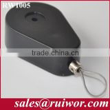 Drop-shaped security-pulling anti theft Box with adjust lasso cable end used in product or parts feeding