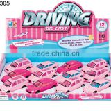 1:43 pink pull back diecast car Cute color pull back toy metal car pink color small metal toy car 12pcs 4 style per box