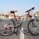 Colorful 26inch Bicycle Double disc brake Road Bikes Carbon Steel 21Speed Mountain Bicycle                                                                                         Most Popular