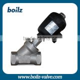 2/2 way piston actuated valve-angle seat valve High Temperature Stainless Steel and Plastic angle seat valve