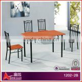 1202-3B Woodn table set/ modern dining table and chair/particle board table and chairs                                                                         Quality Choice