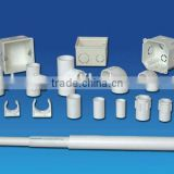 white color pvc electrical pipe for conduit wiring
