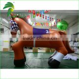 Inflatable PVC Horse Toys / Inflatable Brown Horse / Customized Inflatable Animals Horse Toy