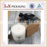 Guangzhou new designed logo printed gift wholesale recyclable paper candle packaging boxes