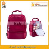 New design thick warm thermal boxes nylon lunch bag red tote with zipper insulation                                                                                                         Supplier's Choice