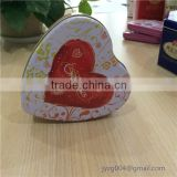 Delicate new customized designed promotional candy tin box heart shape metal candy boxes for sale