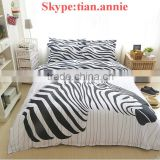 Bedding set 4pcs Twill fabrics with horse print Bedding bedding set bedding fabric