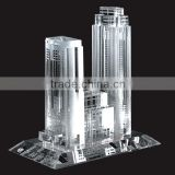 Wholesale custom crystal arts and crafts style 3d glass crystal miniature building model for business souvenir