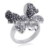Party Casual/Sporty Animal 18k White Gold Plating Rings Austrian Crystal Butterfly Ring For Women