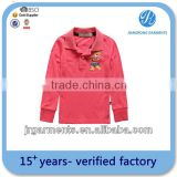 plain t-shirts polo shirts long sleeves kids high quality