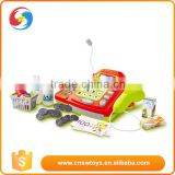 Most Popular red children plastic electric cash register pretend play toy
