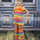 hot sale pretty rompers for children chevron lace baby romper wholesale girls outfits