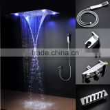 luxury shower system embeded ceiling multifunctional shower mixer bath set with rainfall,waterfall,mist spray,curtain