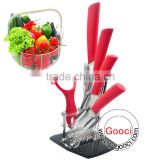 "3""+4""+5""+6""+Peeler+ knife Holder White Ceramic knives Set Cutlery Chef"